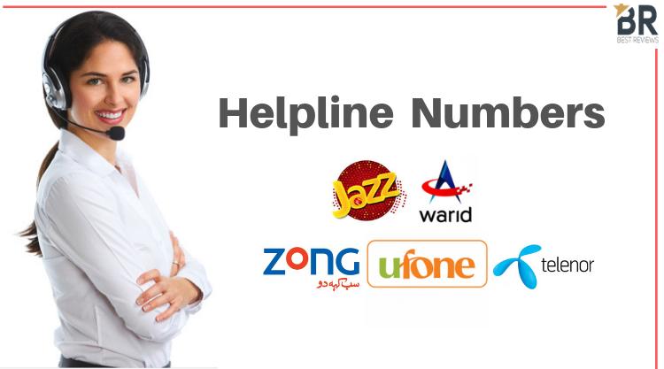 Helpline Numbers of Jazz, , Warid, Telenor, Zong Code