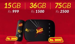Jazz 4G Wi-Fi Device Price and Packages